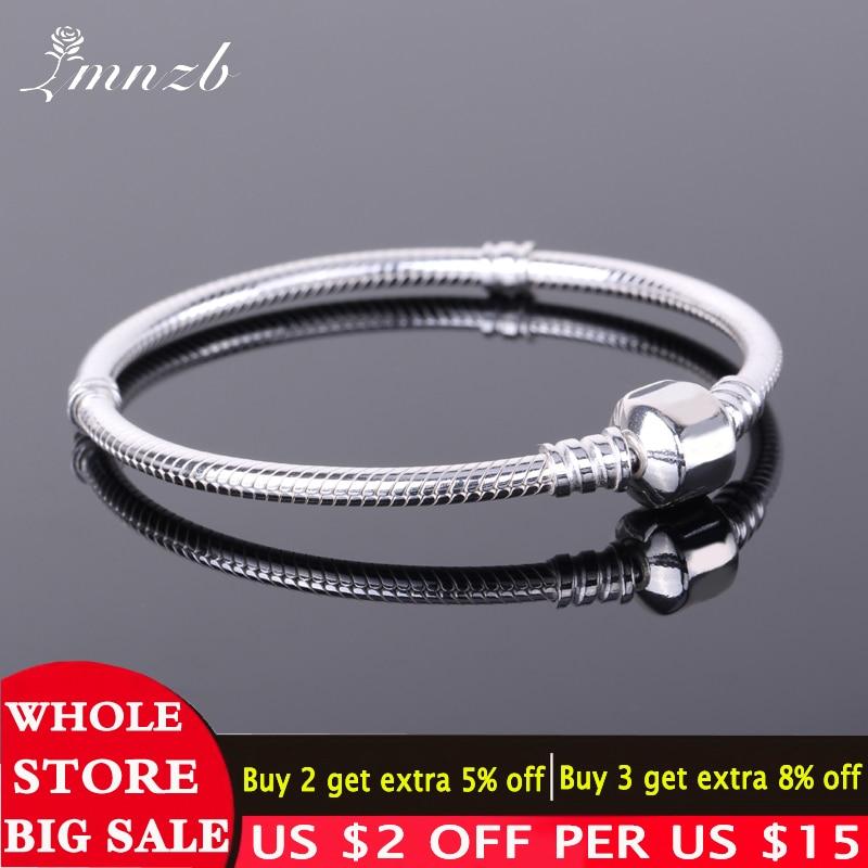 Freies Geschickt Zertifikat 925 Sterling Silber Original Charme Armband mit S925 Logo Frauen DIY Perlen Charms Armband Armreif LD925