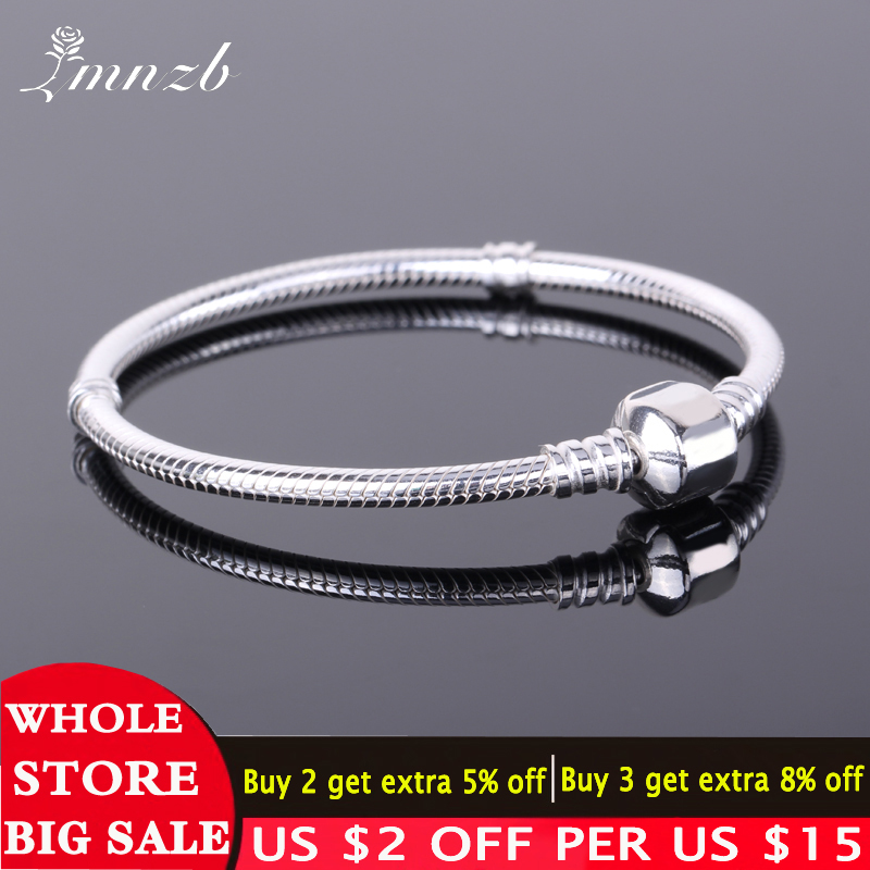 Free Sent Certificate 925 Sterling Silver Original Charm Bracelet with S925 Logo Women DIY Beads Charms Bracelet Bangle LD925