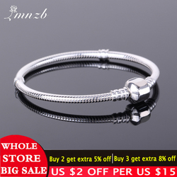 Free Sent Certificate 925 Sterling Silver Original Charm Bracelet with S925 Logo Women DIY Beads Charms Bracelet Bangle LD925