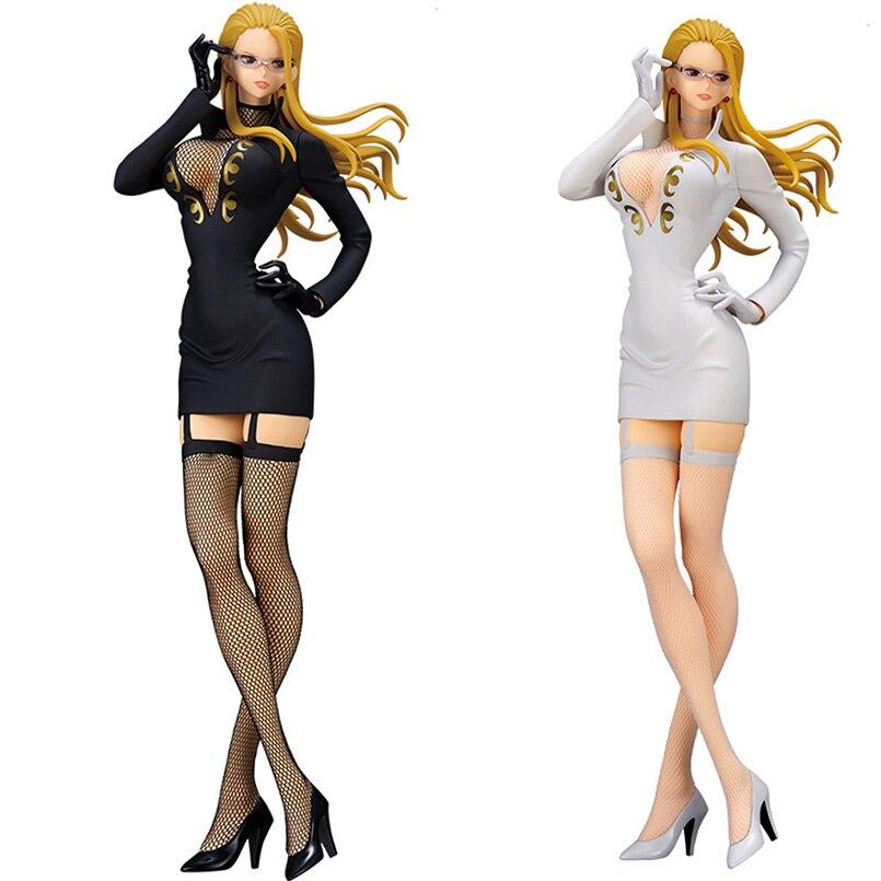 25cm Japanese Anime One Piece Kalifa PVC Action Figure Toys Anime Black White Stockings Kalifa Figure Collectible Model Toy Gift