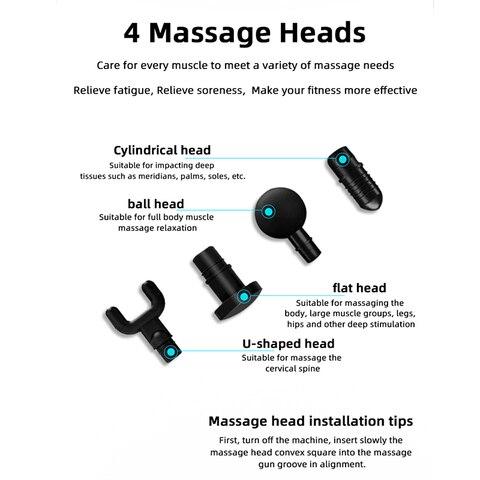 massagem eletronica arma massager tecido profundo dor