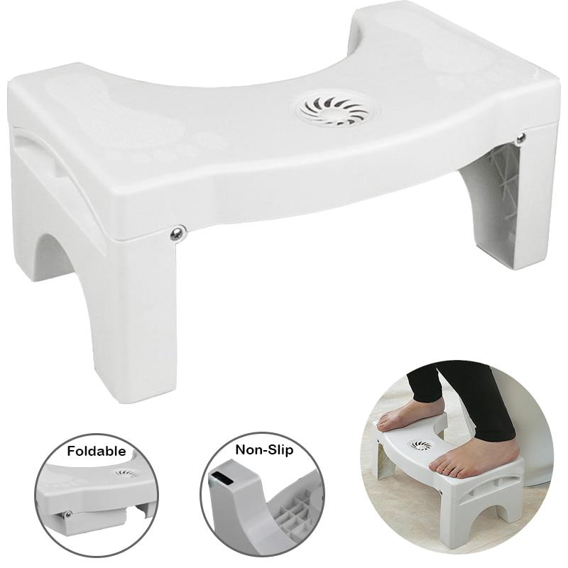 U-Shaped Squatting Toilet Stool Non-Slip Bathroom Chair Foldable Plastic Footstool Squatting Stool Toilet Dropshipping