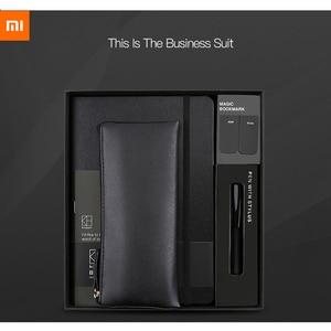 Image 1 - Новый деловой костюм Xiaomi Kinbor ручка блокнот закладки пенал офисный Подарочный костюм практичный высококачественный