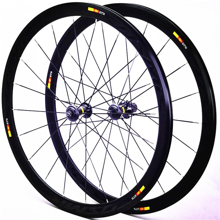 700c 40mm Aluminium Legierung Fahrrad laufradsatz Cosmic rennrad V Bremse Räder 20H Felgen