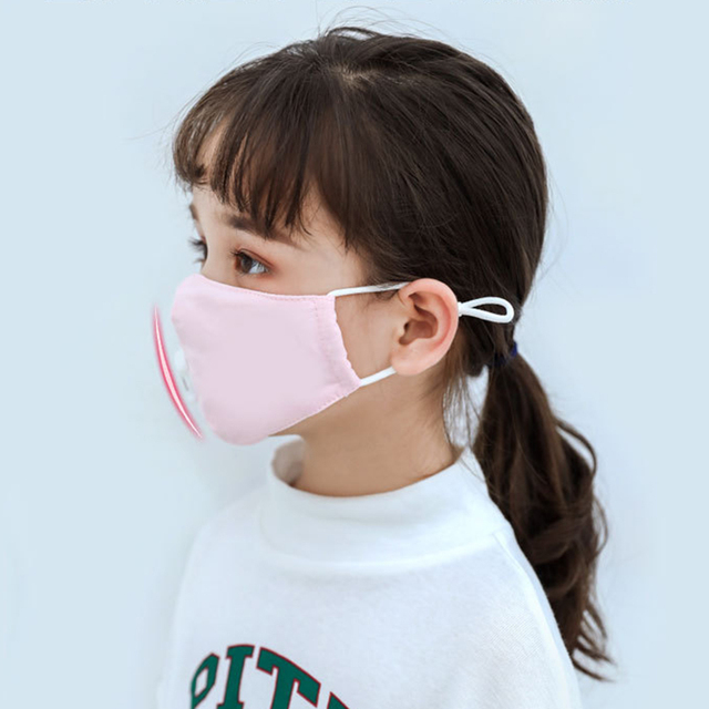 Boy Girl Anti Dust Face Mask Washing Anti PM2.5 Pollution Mask Kid Face Respirator Breathable Valve Masks Filter 3D Mouth Cover 3