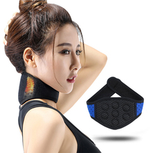 Tourmaline Neoprene Neck Support Brace Magnetic Therapy Wrap Protect Band Tourmaline Heating Pads For Neck Pain