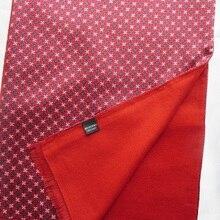 Мужской шарф из чистого шелка с шелковым мягким ворсом шейный платок с обеих сторон черный синий коричневый