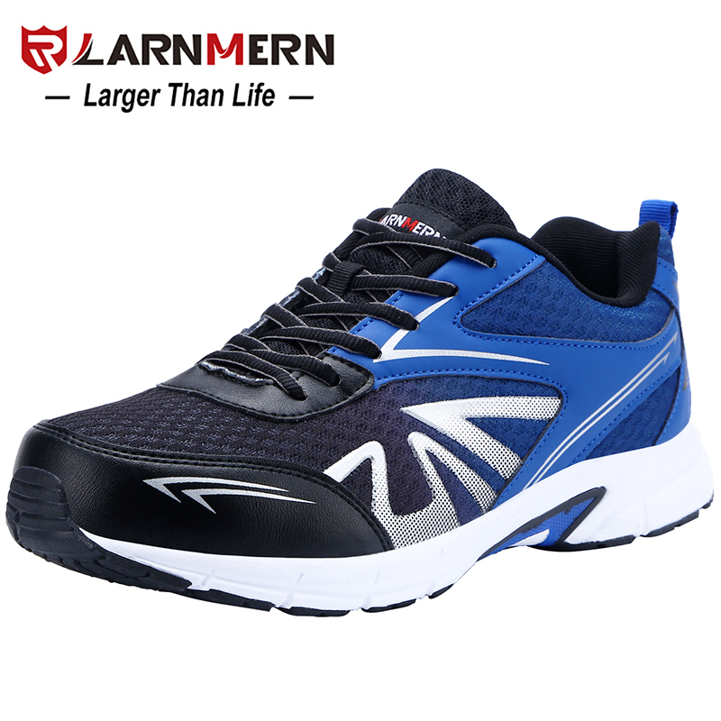 LARNMERN Men's Steel Toe Safety Work Shoes Lightweight Breathable Anti-smashing Non-slip Construction Protective Footwear 5