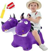Iplay ilearn Двухламповая прыжков Дракон игрушки надувные лошадка
