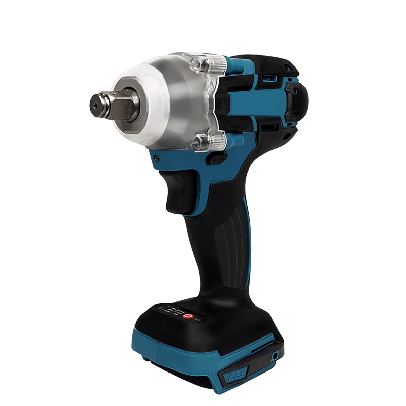 PRACMANU 18V Electric Brushless Impact Wrench Rechargeable 1/2 Socket Wrench Power Tool Cordless Without Battery&accessories