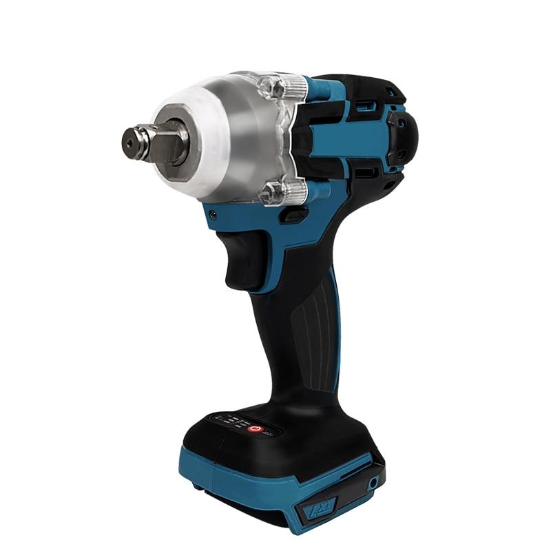 Pracmanu 18V Elektrische Borstelloze Slagmoersleutel Oplaadbare 1/2 Dopsleutel Power Tool Cordless Zonder Batterij & Accessoires