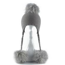 Czapka zimowa dla dzieci czapka typu beanie dla dzieci czapka z daszkiem dla dzieci 3 czapka z wełny z pomponem czapka z naturalnego prawdziwego futrzany pompon czapka z pomponem dla dziewczynek tanie tanio furandown CN (pochodzenie) Akrylowe Unisex Stałe A255 Skullies czapki Na co dzień Baby winter hat acrylic wool real raccoon fur
