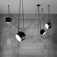 Nowoczesne żyrandole salon jadalnia restauracja lampa kuchenna nabłyszczania aluminium żyrandol w stylu Vintage oprawy oświetleniowe tanie tanio nomsun CN (pochodzenie) Pokrętło przełącznika 220 v iron VPL132 Metal vintage chandelier Montażu podtynkowego Żyrandole