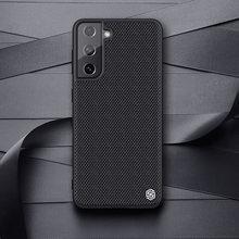 For Samsung Galaxy S21 Nillkin-funda texturizada de fibra de nailon para Samsung Galaxy S21 Ultra / S21 + Plus