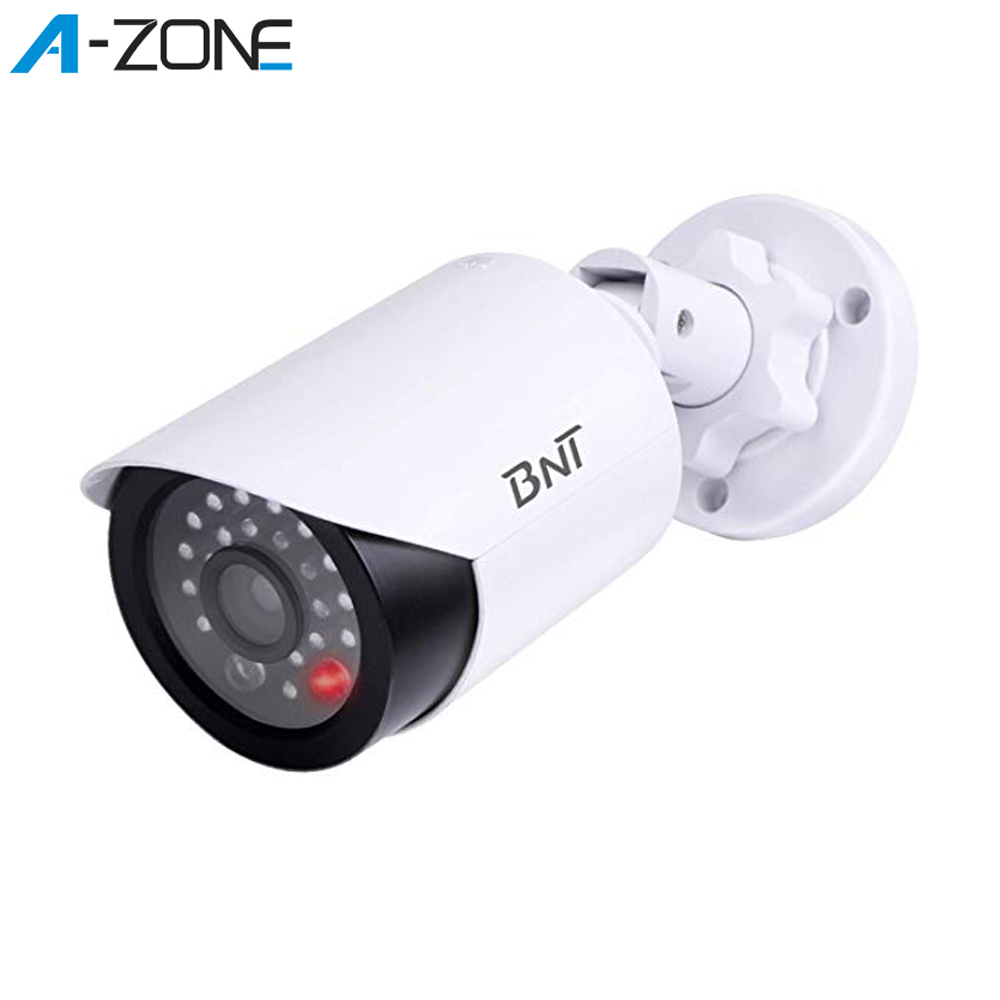 4 Pcs Simulation Dummy Fake Camera Waterproof CCTV Outdoor Security Cameras With Bullet Flashing LED Light Home Security Kamera