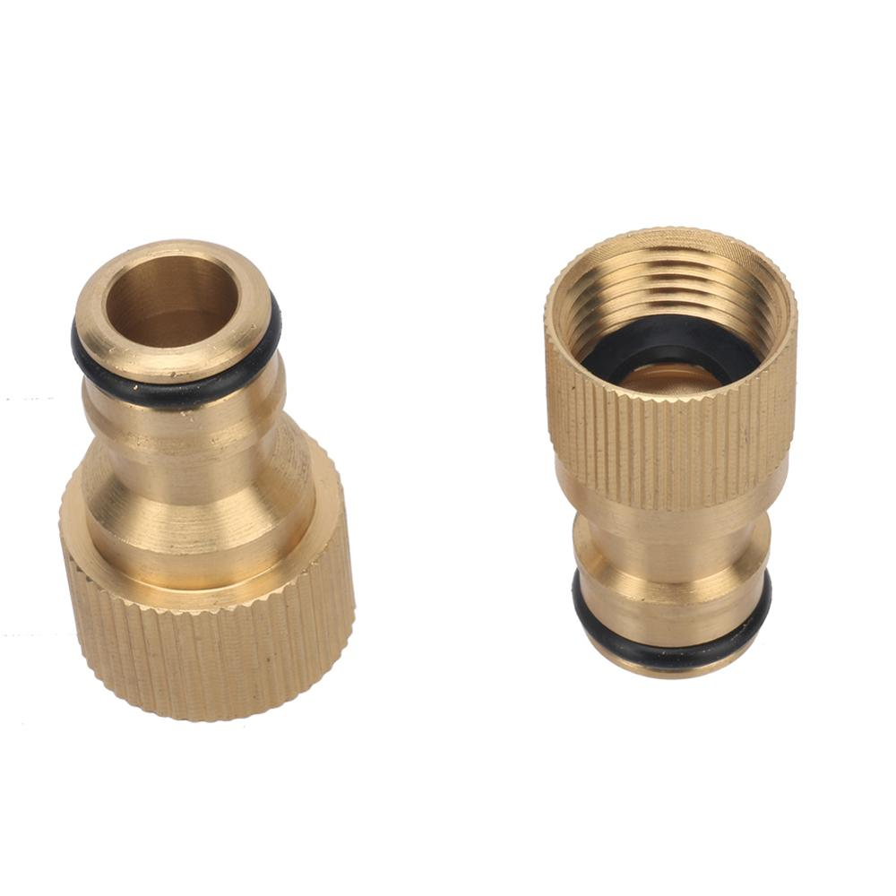 Brass M18 M22 Female Thread Nipple Connector Home Improvement Plumbing Pipe Fittings Copper Faucet Quick Coupling Adapters