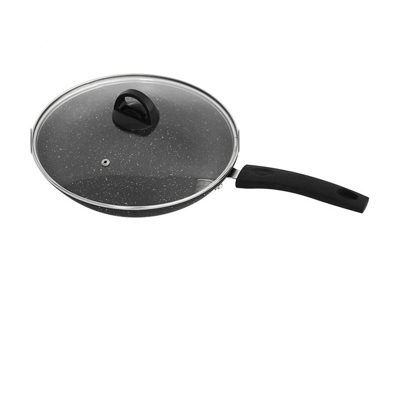 Frying Pan Non-stick Skillet Pan With Lid Maifanite Coating Egg Frying Pan Long Handle Kitchen Cookware For Induction Gas Stove