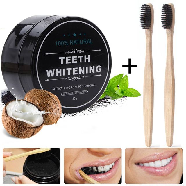 30g Charcoal Teeth Whitening Powder Natural Activated Charcoal Whiten Teeth Stain Remover Teeth Whitening Powder Oral Hygiene