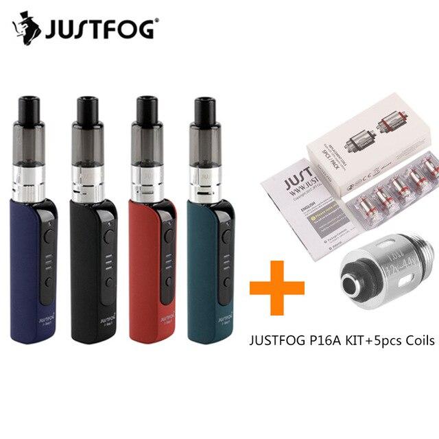 Original Justfog P16A Vape Pen Starter Kit With 900mAh Battery 5pcs Coil 2ml Tank Anti-spit Protection Hookah E-cigarette Kit