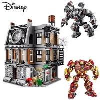Disney Marvel Avengers Base Alliance Temple Building Block Toy Iron Man Boy creativo bambino regalo divertente gioco Building Block Toy
