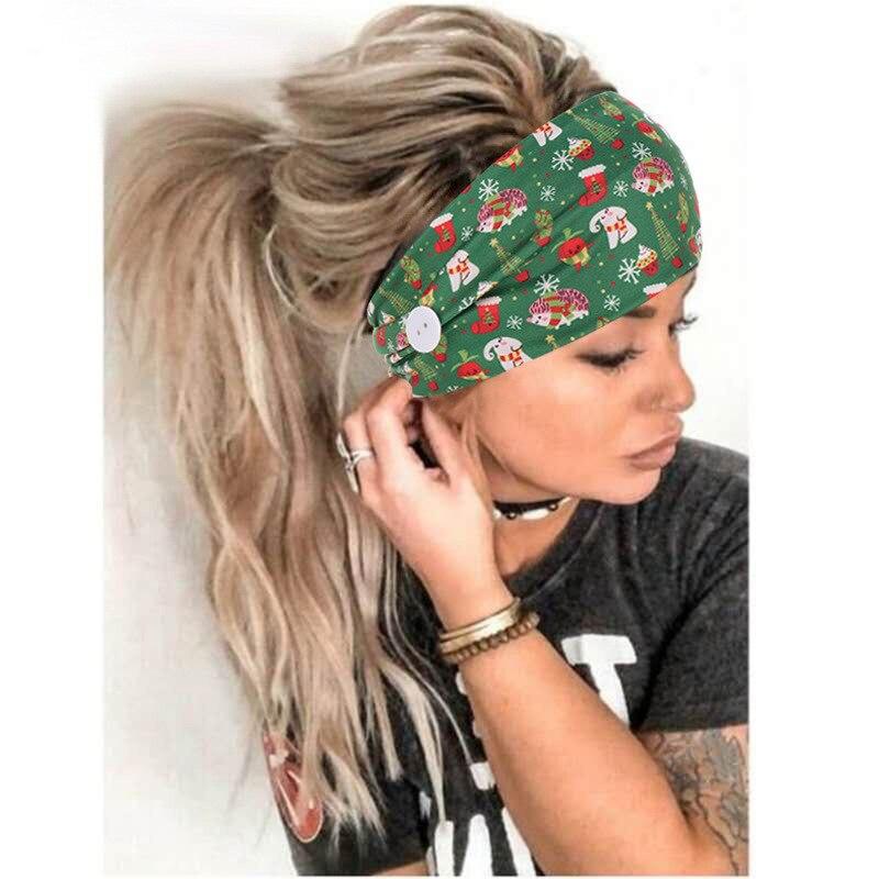 Fashion Button Headbands (Set of 2)