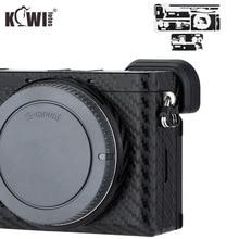 KIWIFOTOS 안티 스크래치 카메라 바디 커버 탄소 섬유 필름 키트 스킨 소니 A6600 3M 스티커 스페어 필름 카메라 보호
