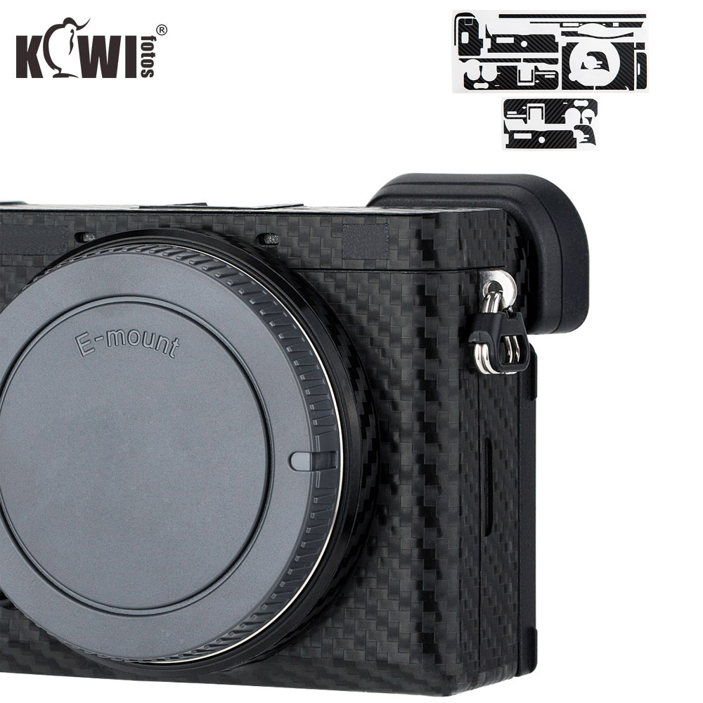KIWIFOTOS Anti-Scratch Camera Body Cover Carbon Fiber Film Kit Skin For Sony A6600 3M Sticker With Spare Film Cameras Protection