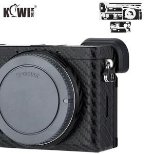 Image 1 - KIWIFOTOS anti rayures caméra corps couverture en Fiber de carbone Film Kit peau pour Sony A6600 3M autocollant avec Film de rechange caméras Protection