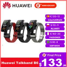 Huawei TalkBand B6 Talk Band Bluetooth tętno Fitness bransoletka sport nadgarstek dotykowy ekran AMOLED połączenie słuchawki zespół tanie tanio kolorowy wyświetlacz lcd Android SİLİCA Krokomierz Rejestrator aktywności fizycznej Rejestrator snu Przypomnienie o połączeniu