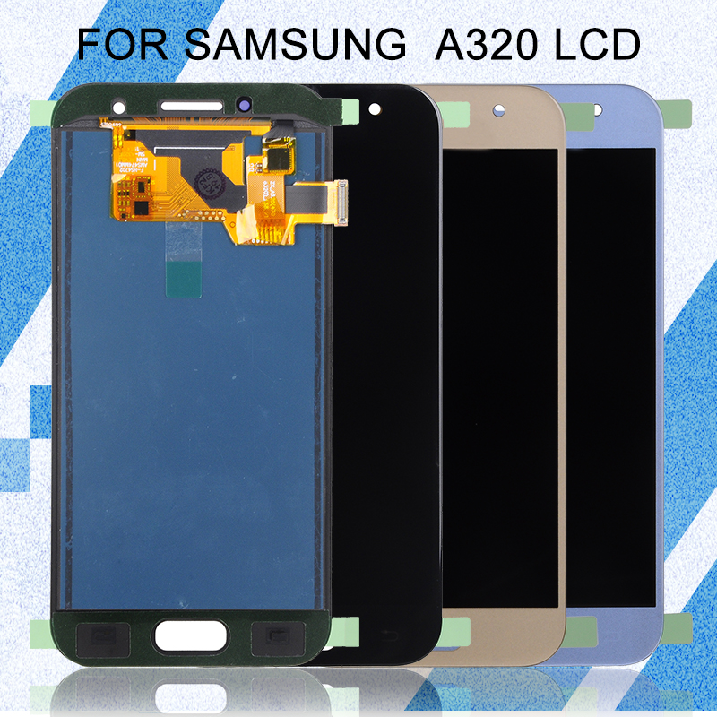 Catteny <font><b>A320</b></font> Display For Samsung Galaxy A3 2017 <font><b>Lcd</b></font> Display With Touch Panel Digitizer Assembly A320F A3 2017 Display Free Ship image