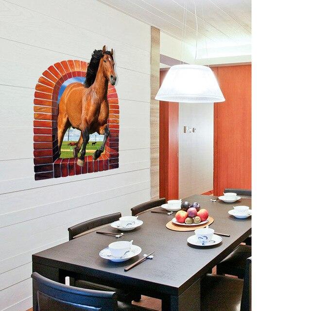 Купить sk90743d стикер на стену лошадь спальня гостиная крыльцо тв картинки