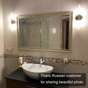 Image 4 - Lâmpada de led de parede, tubo de metal moderno para baixo, luz para parede, para quarto, lavador, sala de estar, banheiro lâmpada led de led