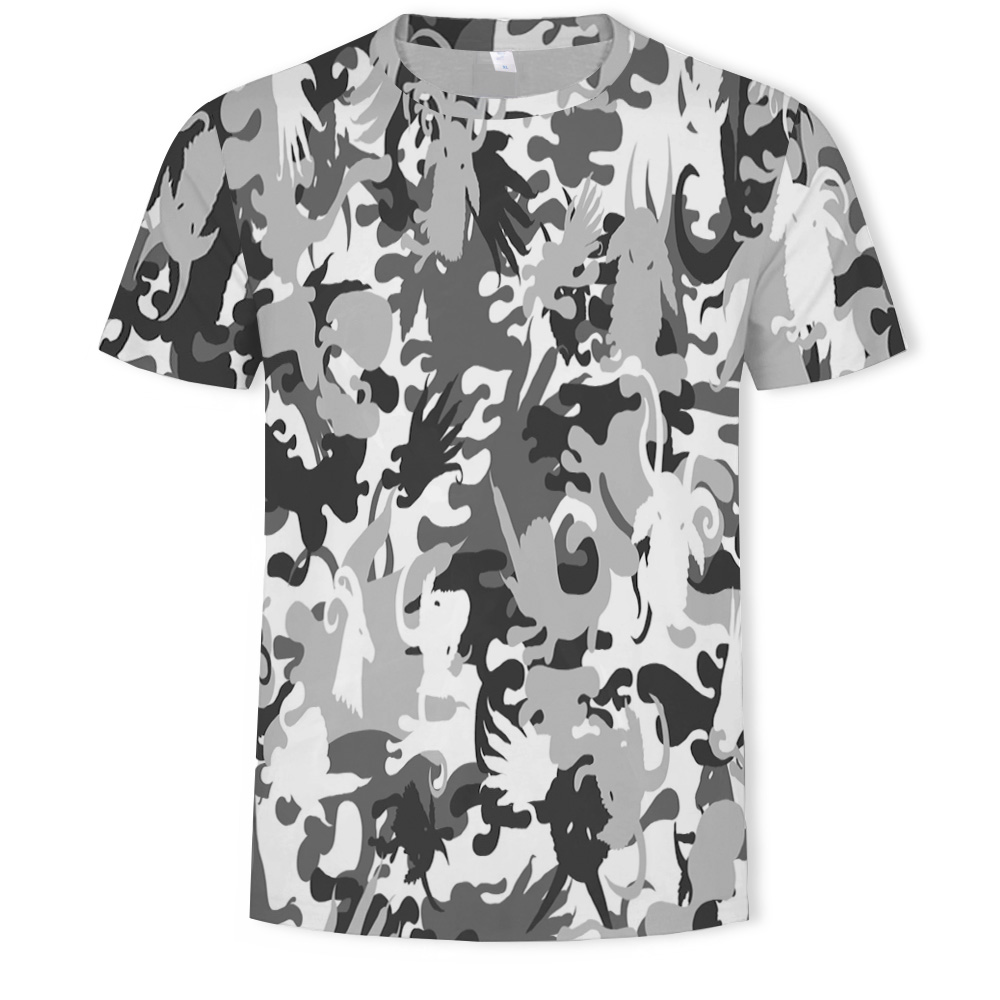 2021 hot sale 3D men's T-shirt military camouflage printing casual T-shirt men's Asian size 110-6XL T-shirt men
