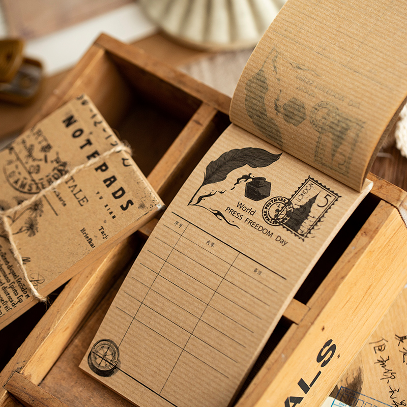 4PCS/LOT Retro Note Series Creative Message Material Decoration Base Paper Onion Paper Memo Pad