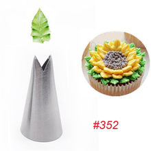 352 # folha bicos de confeitaria dicas de tubulação ferramenta de pastelaria aço inoxidável creme cupcake bolo decoração moldes de cozimento