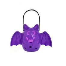 Halloween Tragbare Bat Laterne Scary Horror Laterne Party Dekoration Lieferungen (Lila)(China)
