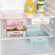 Multifunctional refrigerator storage box creative telescopic drawer household fashion
