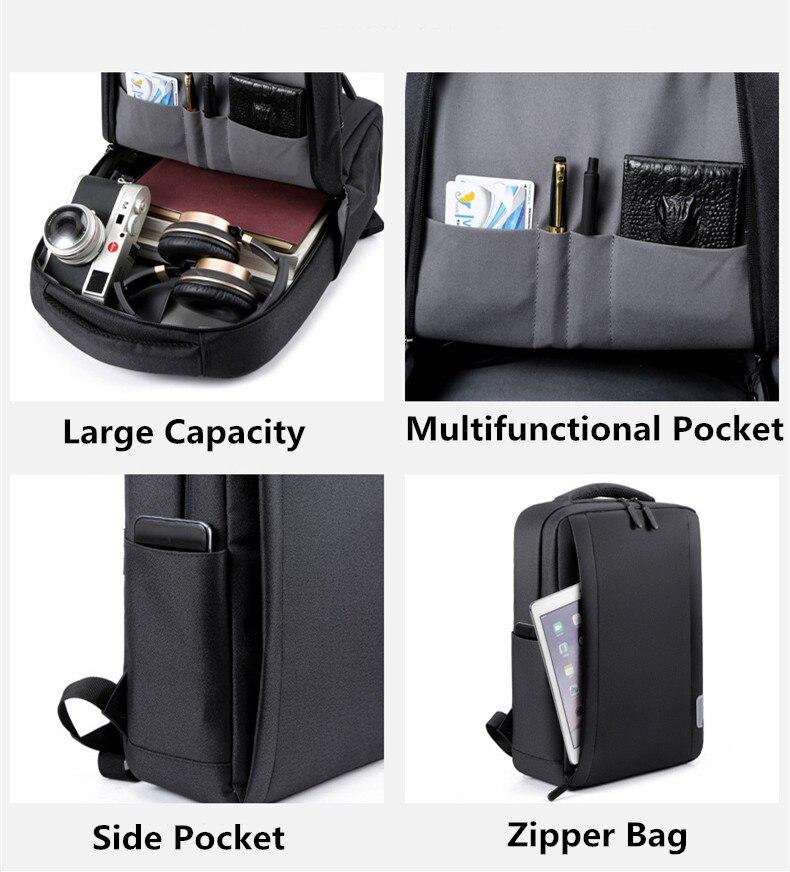 ar livre mochila de viagem multifuncional usb