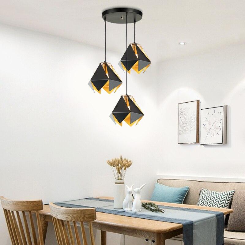 Chandelierrec modern led pendant lights for living room dining room home lighting fixtures E27 hanging lighting pendant lamp