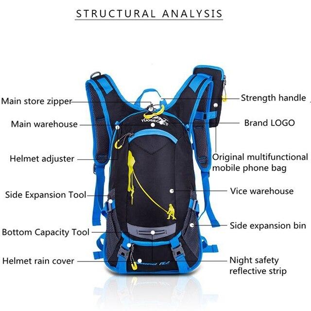 18l impermeável mochila esporte ao ar livre mochila saco de água acampamento caminhadas ciclismo mochila de água 5