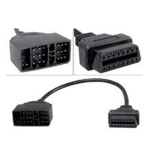 Adaptateur de connecteur mâle à 16 broches, câble Obd2 pour Toyota, Interface doutil de Diagnostic de voiture
