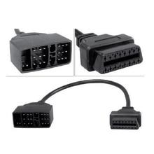 Obd 2 obdii obd2 cabo para toyota 22 pinos macho para 16 pinos conector fêmea adaptador uso para carro ferramenta de diagnóstico scanner interface