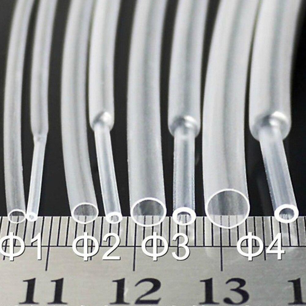 50m --- 1mm 1.5mm 2mm 2.5mm 3mm 3.5mm 4mm 5mm 6mm 8mm tubo de psiquiatra de calor transparente tubo shrinkable sleeving envoltório fio kits
