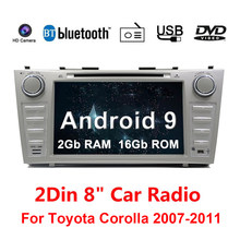 "8"" Android 9.1 Car DVD Player Radio 2 Din Autoradio For Toyota Camry 2007 2008 2009 2010 2011 Car Stereo GPS Navigation(China)"