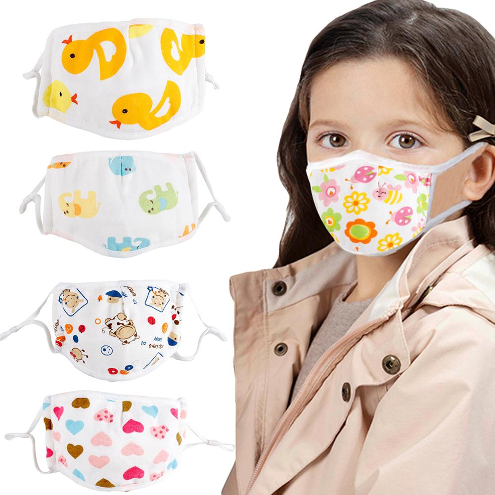 Child Protective Face Mask Cotton 5 Layers Anti Haze Dustproof Mouth Mask Baby Anti-Saliva Breathable Face Mouth Mask
