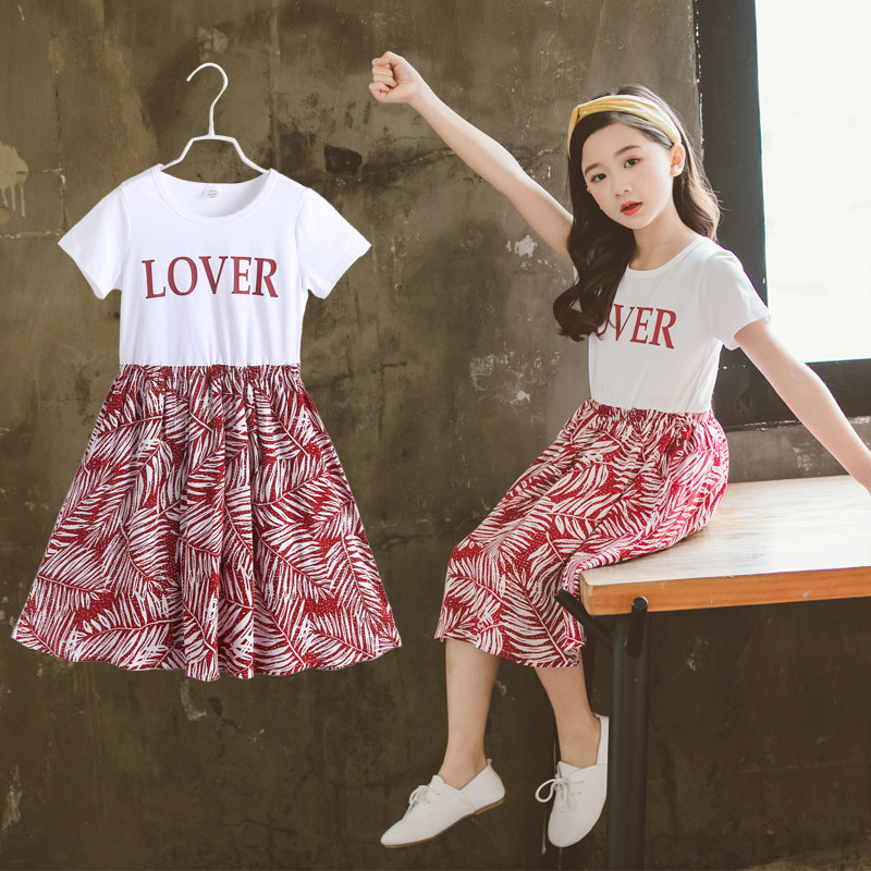 Baby <font><b>Girl</b></font> Clothes Short Sleeve <font><b>T</b></font> <font><b>Shirt</b></font> <font><b>Dresses</b></font> <font><b>Girls</b></font> Elegant Print <font><b>Dress</b></font> Children Clothing Cotton Party Princess Floral <font><b>Dresses</b></font> image