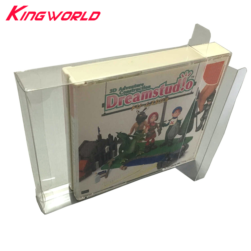 10pcs Clear Transparent Display Collection Box For PS1 For Sega Dreamcast DC SS Game Card Storage 3CD 4CD PET Protective Box