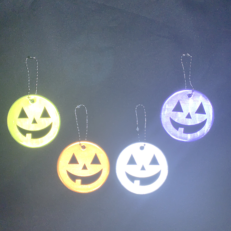 Хэллоуин Тыква брелки мягкий ПВХ отражающий брелок подвесные аксессуары для сумок брелки для дорожного движения видимая Безопасность использования