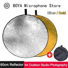 60 см складной отражатель портативный круглый глаз светло-золотой серебряный диффузор для наружной студии фото Vlog мягкая фотография Освещение
