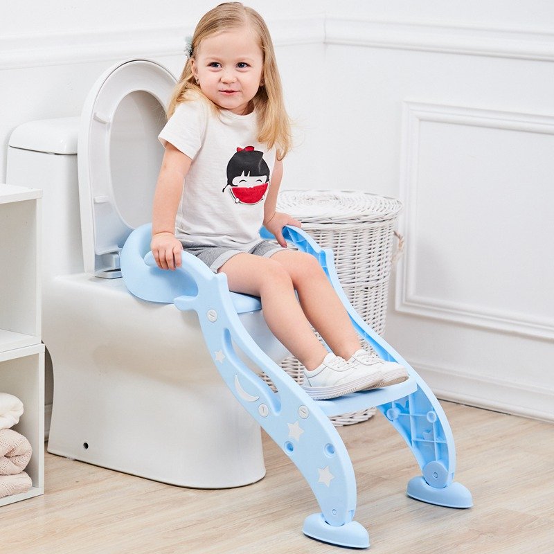 New Arrival Folding Baby Potty Infant Kids Toilet Training Seat With Adjustable Ladder Portable Potty Toilet Seat For Kids